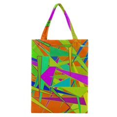 Background With Colorful Triangles Classic Tote Bag