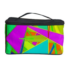 Background With Colorful Triangles Cosmetic Storage Case