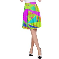 Background With Colorful Triangles A Line Skirt