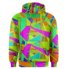 Background With Colorful Triangles Men s Pullover Hoodie