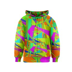 Background With Colorful Triangles Kids  Zipper Hoodie
