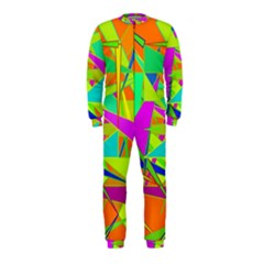 Background With Colorful Triangles OnePiece Jumpsuit (Kids)