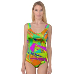 Background With Colorful Triangles Princess Tank Leotard