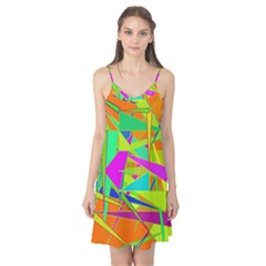 Background With Colorful Triangles Camis Nightgown