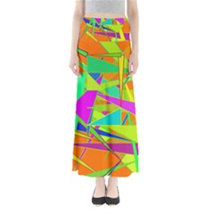 Background With Colorful Triangles Maxi Skirts