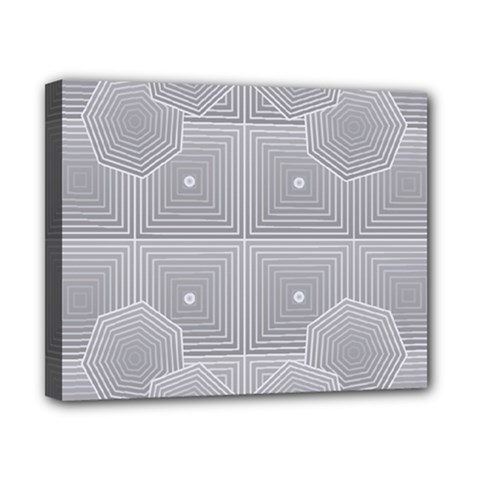 Grid Squares And Rectangles Mirror Images Colors Canvas 10  x 8