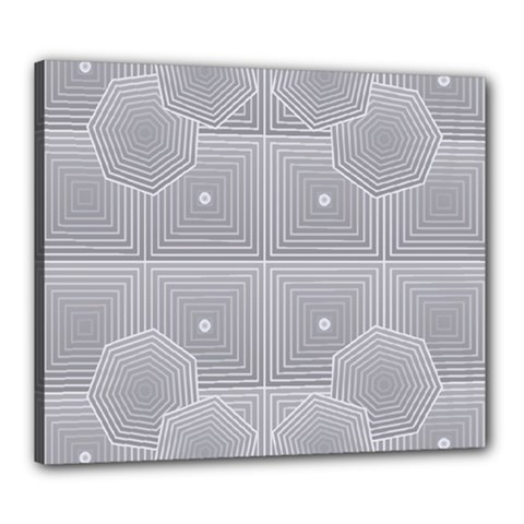 Grid Squares And Rectangles Mirror Images Colors Canvas 24  X 20