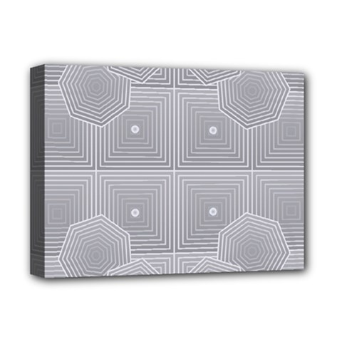 Grid Squares And Rectangles Mirror Images Colors Deluxe Canvas 16  x 12