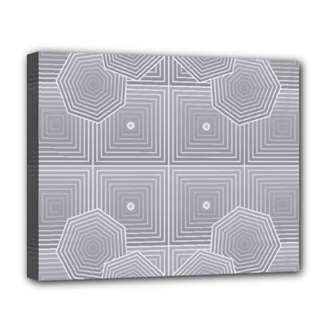 Grid Squares And Rectangles Mirror Images Colors Deluxe Canvas 20  X 16