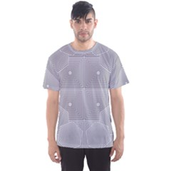 Grid Squares And Rectangles Mirror Images Colors Men s Sport Mesh Tee