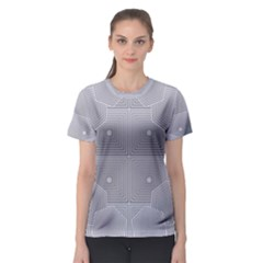 Grid Squares And Rectangles Mirror Images Colors Women s Sport Mesh Tee