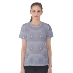 Grid Squares And Rectangles Mirror Images Colors Women s Cotton Tee