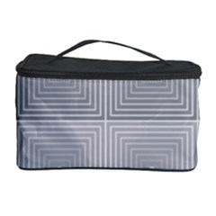Grid Squares And Rectangles Mirror Images Colors Cosmetic Storage Case