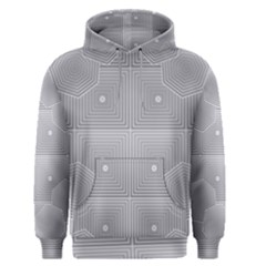 Grid Squares And Rectangles Mirror Images Colors Men s Pullover Hoodie