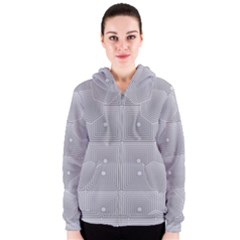 Grid Squares And Rectangles Mirror Images Colors Women s Zipper Hoodie