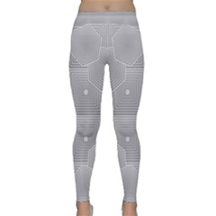 Grid Squares And Rectangles Mirror Images Colors Classic Yoga Leggings