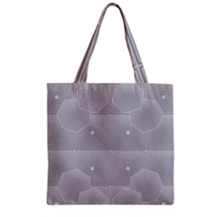 Grid Squares And Rectangles Mirror Images Colors Zipper Grocery Tote Bag