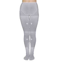 Grid Squares And Rectangles Mirror Images Colors Women s Tights