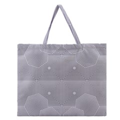 Grid Squares And Rectangles Mirror Images Colors Zipper Large Tote Bag