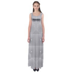 Grid Squares And Rectangles Mirror Images Colors Empire Waist Maxi Dress