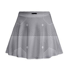 Grid Squares And Rectangles Mirror Images Colors Mini Flare Skirt