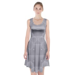 Grid Squares And Rectangles Mirror Images Colors Racerback Midi Dress