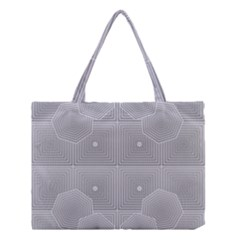 Grid Squares And Rectangles Mirror Images Colors Medium Tote Bag