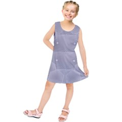 Grid Squares And Rectangles Mirror Images Colors Kids  Tunic Dress