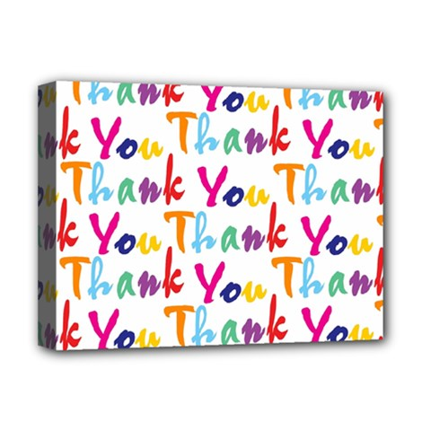 Wallpaper With The Words Thank You In Colorful Letters Deluxe Canvas 16  X 12