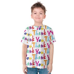 Wallpaper With The Words Thank You In Colorful Letters Kids  Cotton Tee