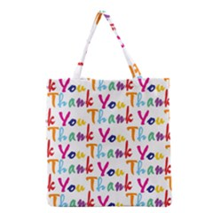 Wallpaper With The Words Thank You In Colorful Letters Grocery Tote Bag