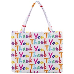 Wallpaper With The Words Thank You In Colorful Letters Mini Tote Bag