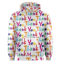 Wallpaper With The Words Thank You In Colorful Letters Men s Zipper Hoodie