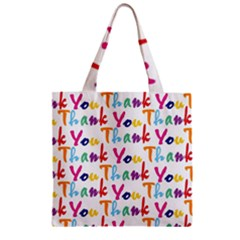Wallpaper With The Words Thank You In Colorful Letters Zipper Grocery Tote Bag