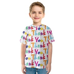 Wallpaper With The Words Thank You In Colorful Letters Kids  Sport Mesh Tee