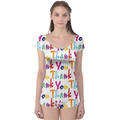 Wallpaper With The Words Thank You In Colorful Letters Boyleg Leotard