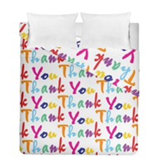 Wallpaper With The Words Thank You In Colorful Letters Duvet Cover Double Side (full/ Double Size)