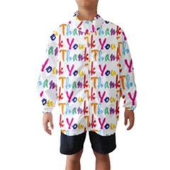 Wallpaper With The Words Thank You In Colorful Letters Wind Breaker (kids)