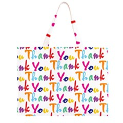 Wallpaper With The Words Thank You In Colorful Letters Large Tote Bag