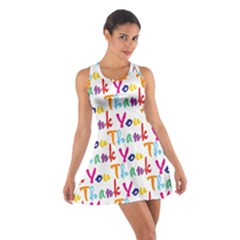 Wallpaper With The Words Thank You In Colorful Letters Cotton Racerback Dress