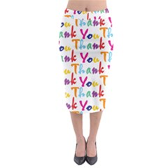 Wallpaper With The Words Thank You In Colorful Letters Midi Pencil Skirt