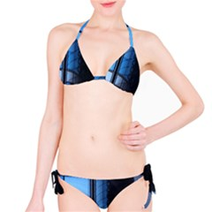 Modern Office Window Architecture Detail Bikini Set