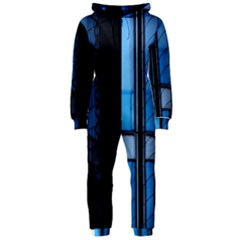 Modern Office Window Architecture Detail Hooded Jumpsuit (Ladies)