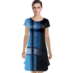 Modern Office Window Architecture Detail Cap Sleeve Nightdress