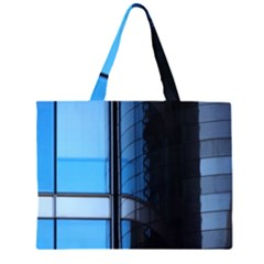 Modern Office Window Architecture Detail Zipper Large Tote Bag