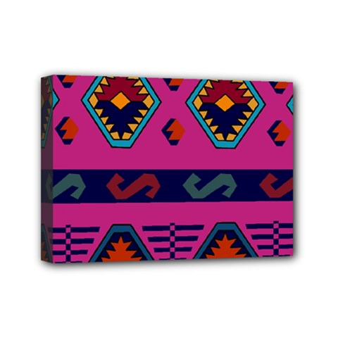 Abstract A Colorful Modern Illustration Mini Canvas 7  X 5