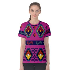 Abstract A Colorful Modern Illustration Women s Cotton Tee