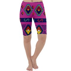 Abstract A Colorful Modern Illustration Cropped Leggings