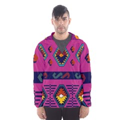 Abstract A Colorful Modern Illustration Hooded Wind Breaker (Men)