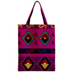 Abstract A Colorful Modern Illustration Zipper Classic Tote Bag